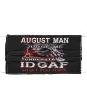 AUGUST MAN Cloth face mask front