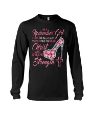 H-November Printing Birthday shirts for Women Long Sleeve Tee thumbnail
