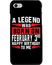 3rd February legend Phone Case thumbnail