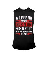 3rd February legend Sleeveless Tee thumbnail