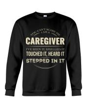 Can't Scare Caregiver Front Dark Crewneck Sweatshirt tile