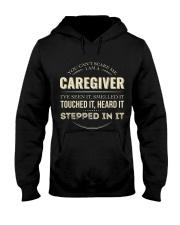Can't Scare Caregiver Front Dark Hooded Sweatshirt tile