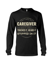 Can't Scare Caregiver Front Dark Long Sleeve Tee tile