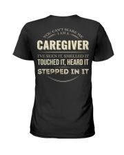 Cant Scare Caregiver Back Dark Ladies T-Shirt back