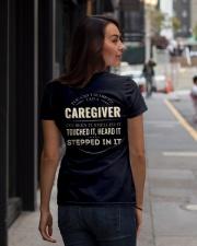 Cant Scare Caregiver Back Dark Ladies T-Shirt lifestyle-women-crewneck-back-1