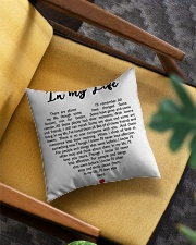 In My Life Square Pillowcase aos-pillow-square-front-lifestyle-07