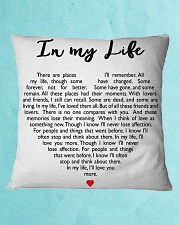 In My Life Square Pillowcase aos-pillow-square-front-lifestyle-2