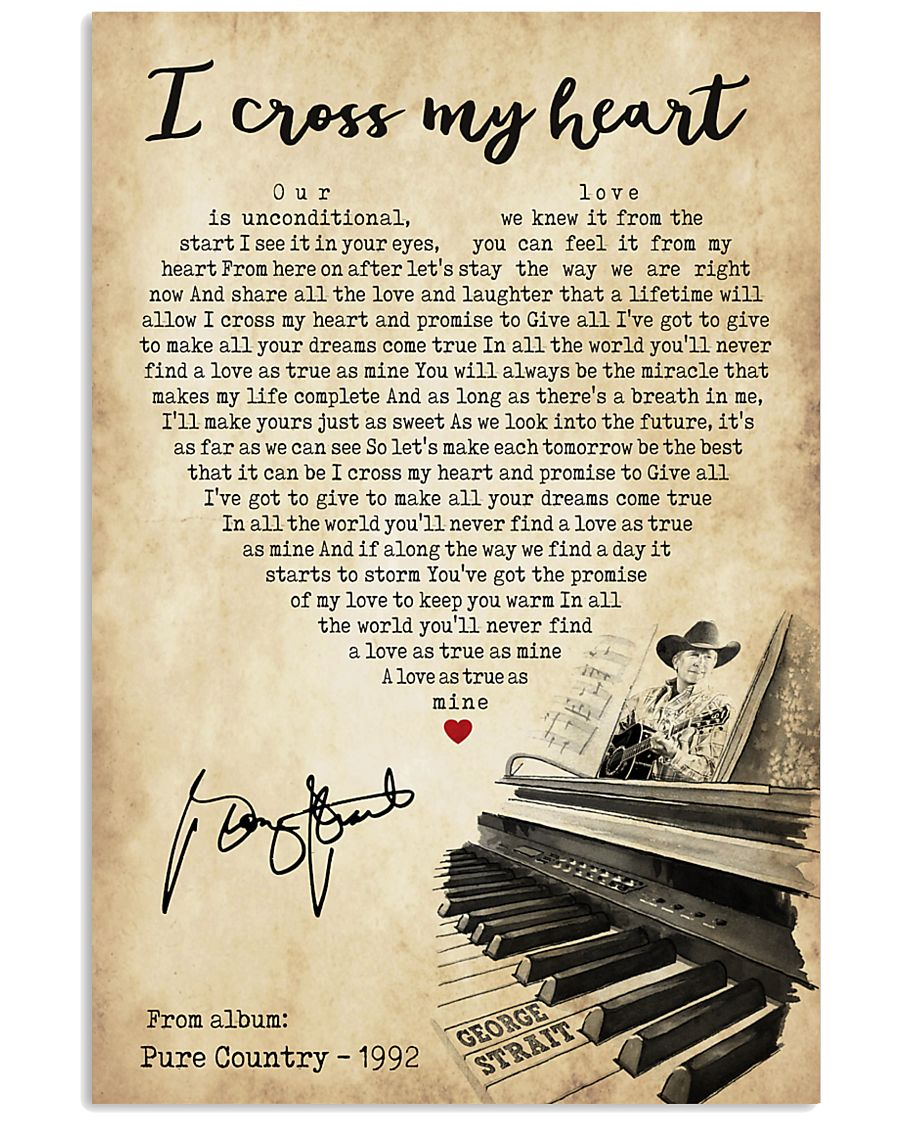 I cross my heart 24x36 Poster