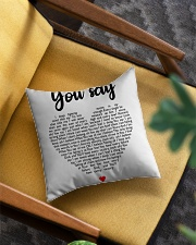 You Say Square Pillowcase aos-pillow-square-front-lifestyle-07