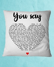 You Say Square Pillowcase aos-pillow-square-front-lifestyle-2