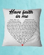 Have Faith In Me Square Pillowcase aos-pillow-square-front-lifestyle-2
