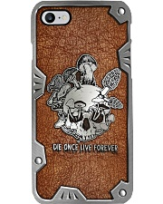 Mushroom die once live forever Phone Case i-phone-8-case