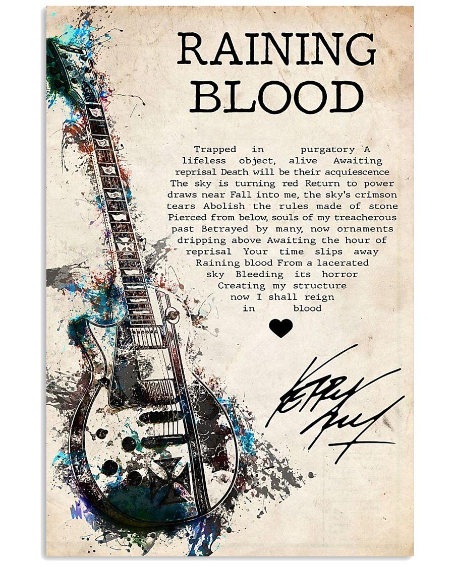 Rainning Blood 24x36 Poster