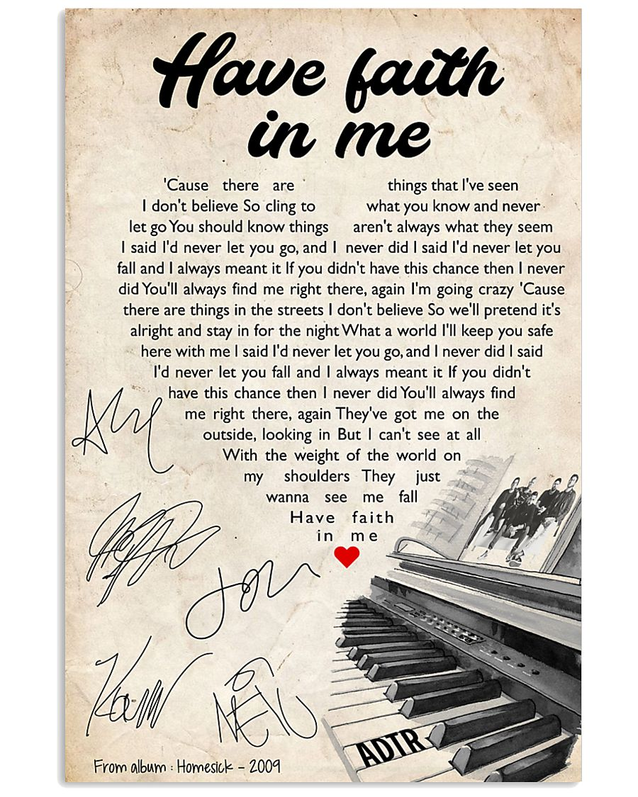 Have faith in me 24x36 Poster
