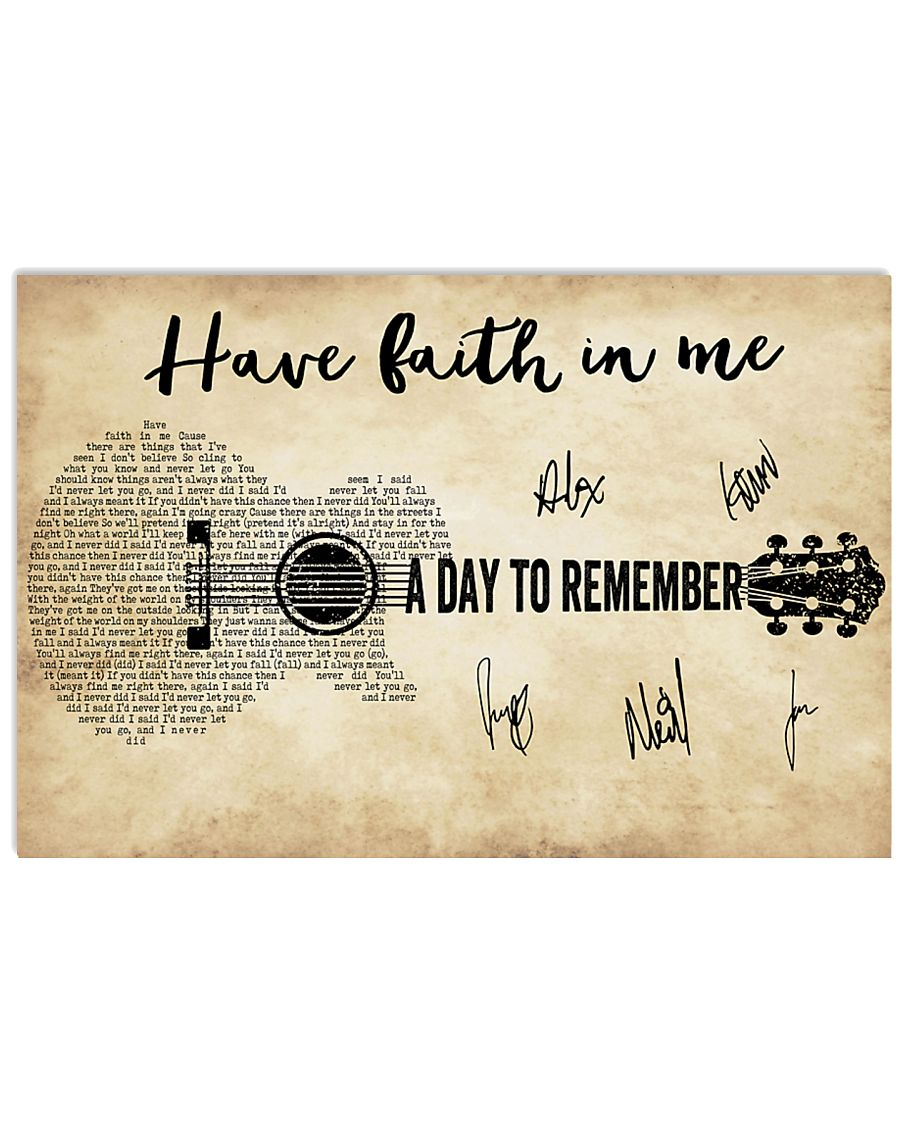 Have Faith In Me 36x24 Poster