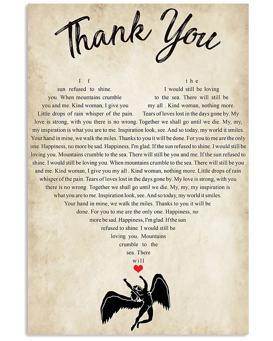 Thank You 24x36 Poster
