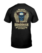 THE POWER HONDURAN - 09 Classic T-Shirt back