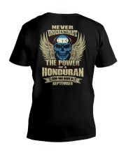 THE POWER HONDURAN - 09 V-Neck T-Shirt thumbnail