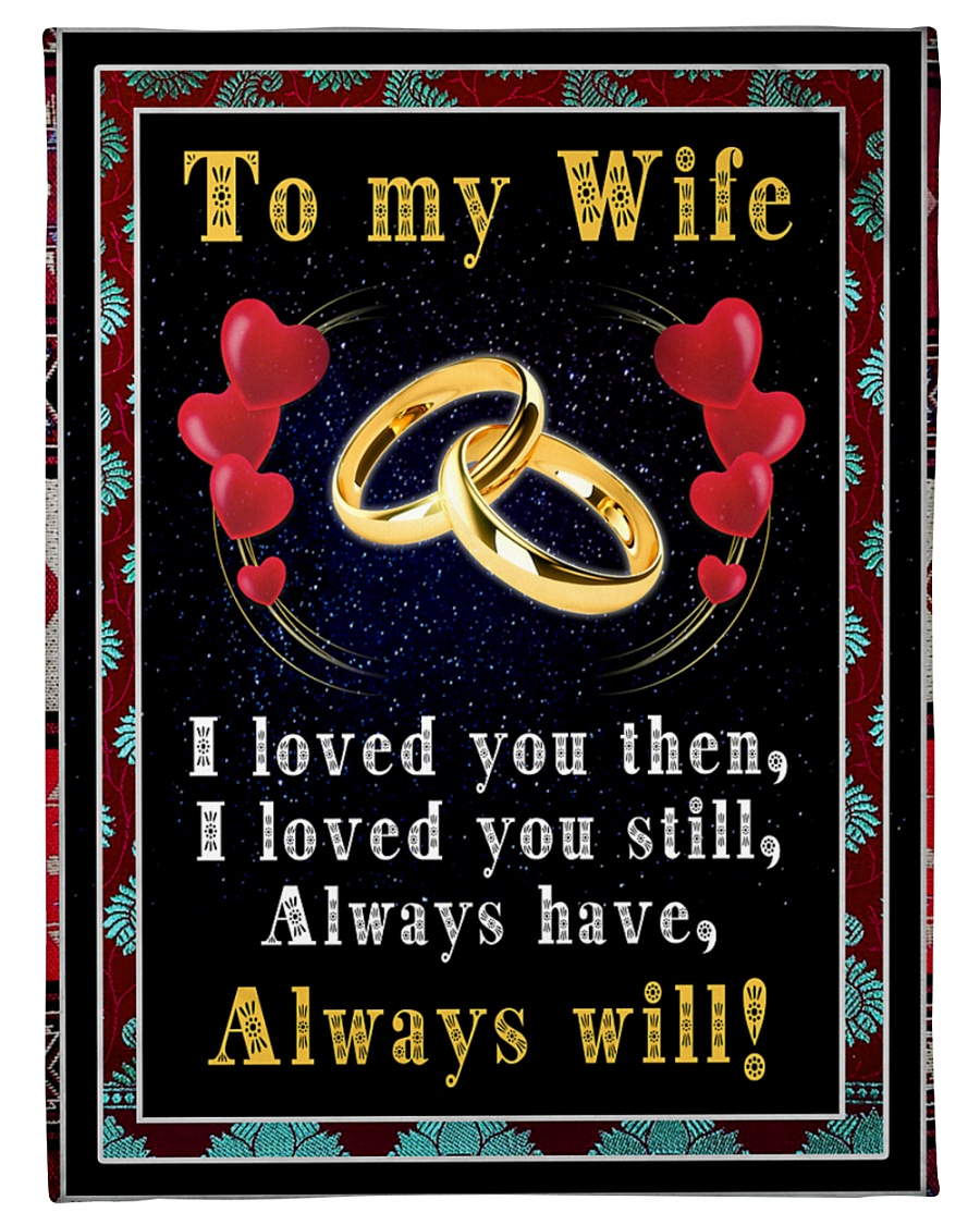 "TO MY WIFE Small Fleece Blanket - 30"" x 40"""