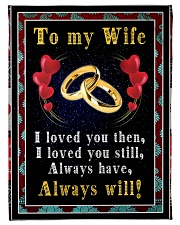 TO MY WIFE Fleece Blanket tile