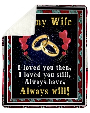 TO MY WIFE Sherpa Fleece Blanket tile