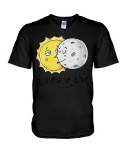 COUPLE- ECLIPSE of LOVE V-Neck T-Shirt thumbnail