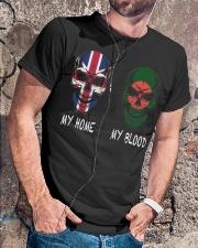 My Home United Kingdom - Bangladesh Classic T-Shirt lifestyle-mens-crewneck-front-4