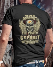 THE POWER CYPRIOT - 09 Classic T-Shirt lifestyle-mens-crewneck-back-2