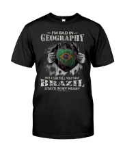 GEOGRAPHY BRAZIL Classic T-Shirt front