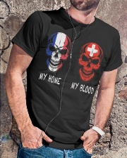 My Home France- Switzerland Classic T-Shirt lifestyle-mens-crewneck-front-4