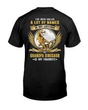 grandpa dinosaur Classic T-Shirt back