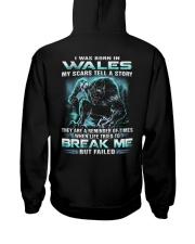 I-WAS-BORN-IN Hooded Sweatshirt back