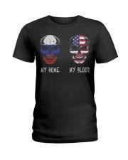 My Home Russia- America Ladies T-Shirt thumbnail