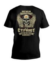 THE POWER CYPRIOT - 08 V-Neck T-Shirt thumbnail