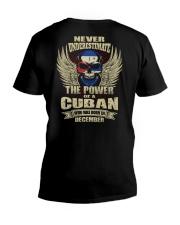 THE POWER CUBAN - 012 V-Neck T-Shirt thumbnail