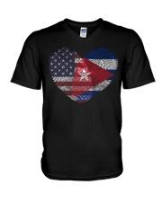 MY HEART Cuba V-Neck T-Shirt thumbnail