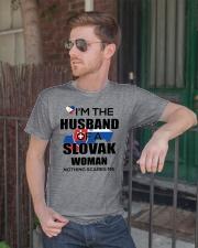 HUSBAND -SLOVAK Classic T-Shirt lifestyle-mens-crewneck-front-2