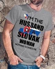 HUSBAND -SLOVAK Classic T-Shirt lifestyle-mens-crewneck-front-4