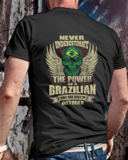 THE POWER BRAZILIAN - 010 Classic T-Shirt lifestyle-mens-crewneck-back-2