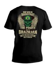 THE POWER BRAZILIAN - 010 V-Neck T-Shirt thumbnail