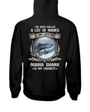 mama shark Hooded Sweatshirt back