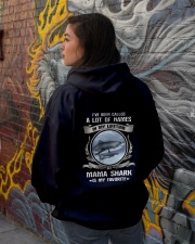 mama shark Hooded Sweatshirt lifestyle-unisex-hoodie-back-1