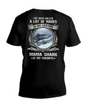 mama shark V-Neck T-Shirt thumbnail