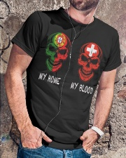 My home Portugal- Switzerland Classic T-Shirt lifestyle-mens-crewneck-front-4