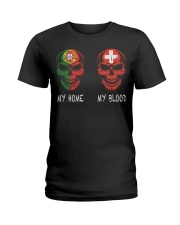 My home Portugal- Switzerland Ladies T-Shirt thumbnail