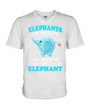 elephant V-Neck T-Shirt thumbnail