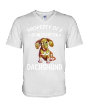 dachshund V-Neck T-Shirt tile