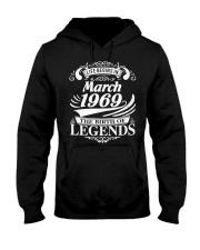 LIFE BEGINS IN MARCH 1969 Hooded Sweatshirt thumbnail