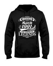 LIFE BEGINS IN MARCH 1991 Hooded Sweatshirt thumbnail