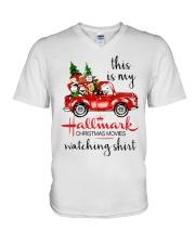 christmas V-Neck T-Shirt thumbnail